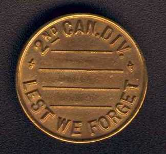 2nd Division Lapel Button, Side 1